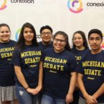 Six Metro Nashville Public School students participated in U-M's annual summer debate camp. The students were connected to the camp through Connexion Américas, a Nashville-based nonprofit organization that helps create opportunities for low- and moderate-income Latino families. (Courtesy of Alexza Barajas Clark)